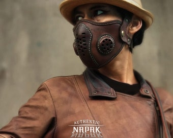 Leather Face Mask Filter Mask Medical Breatable Rare Mask