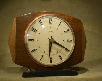 Metamec Wood Mantel Clock - 1970s - Vintage