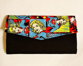Super Girl Tri Fold Wallet