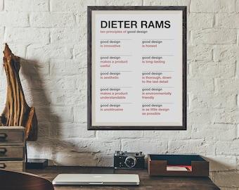Dieter Rams - Ten Principles of Good Design - Minimalist Poster
