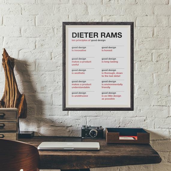 Dieter Rams Diez Principios de Buen Diseño Cartel | Etsy