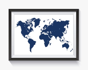 Map blue map blue world map printable world map travel navy navy blue map print blue world map blue travel map gumiabroncs Choice Image