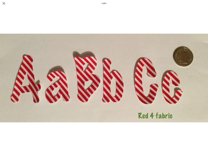 patches- motif for all occasions personalisation 10 Iron on fabric letters all ages 6 cm high Red collection