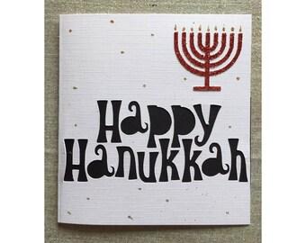 Happy hanukkah greeting card relegious celebrations