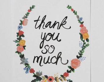 Floral Hand-painted Thank You Cards