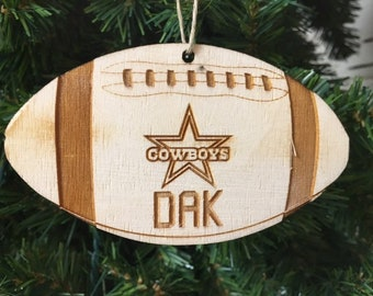 dallas cowboys football personalized christmas ornament