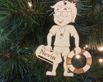 Lifeguard Personalized Christmas Ornament