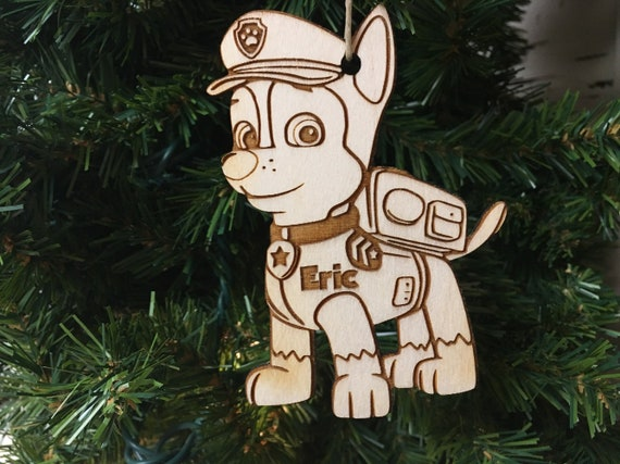 Paw Patrol Christmas Ornaments Personalized.Chase Paw Patrol Personalized Christmas Ornament