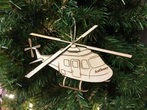 image 0 - Helicopter Personalized Christmas Ornament Etsy
