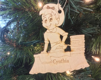 Ironing Personalized Christmas Ornament