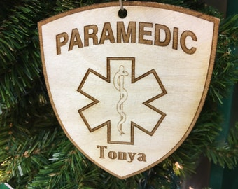 Paramedic Personalized Christmas Ornament
