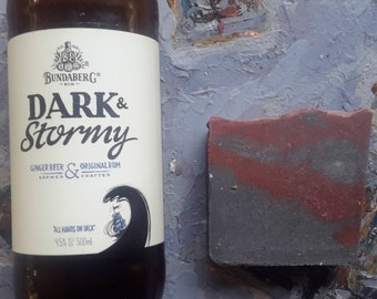 DARK AND STORMY~ Body/Facial Bar - Activated Charcoal / Tea Tree/ Lavender/ Beer/Buttermilk/Calendula - Perfect for acne prone skin