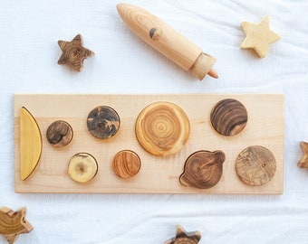 Toddler gift Solar system puzzle, Planets toys, Toddler learning toy, Montessori kids wooden toy,  Education Baby puzzle, Solar system gift