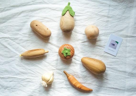 Wooden Vegetable Toys - Kitchen Play Set - Wooden Toy Kit - Waldorf Toddler  Toy - Montessori Kids Gift - Baby Toy Set - Avocado - Peper