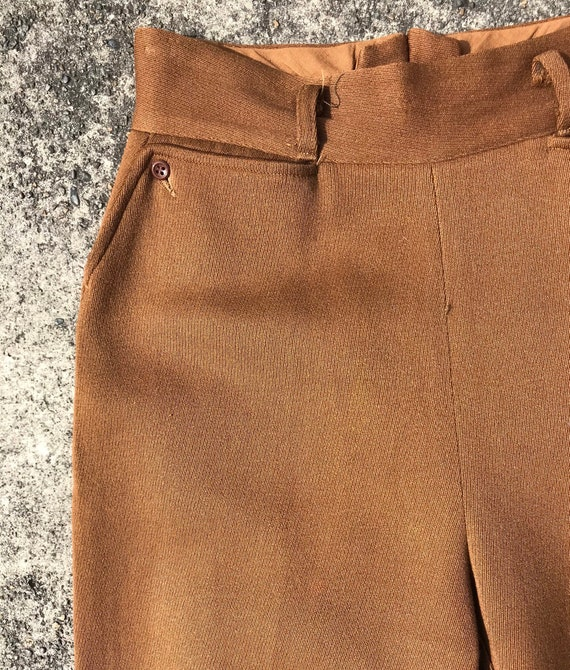 40's 1940's brown riding pants~ high waisted vint… - image 1