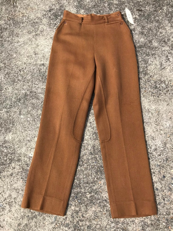 40's 1940's brown riding pants~ high waisted vint… - image 4