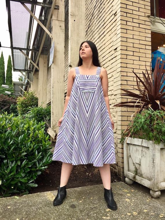1970s | Sun dress | A line | tent dress | chevron