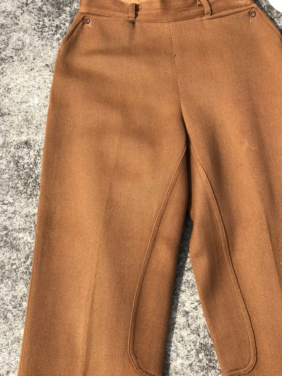40's 1940's brown riding pants~ high waisted vint… - image 5