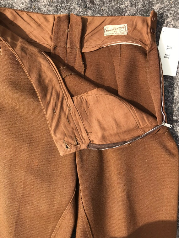 40's 1940's brown riding pants~ high waisted vint… - image 10