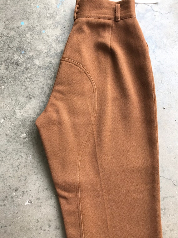 40's 1940's brown riding pants~ high waisted vint… - image 7