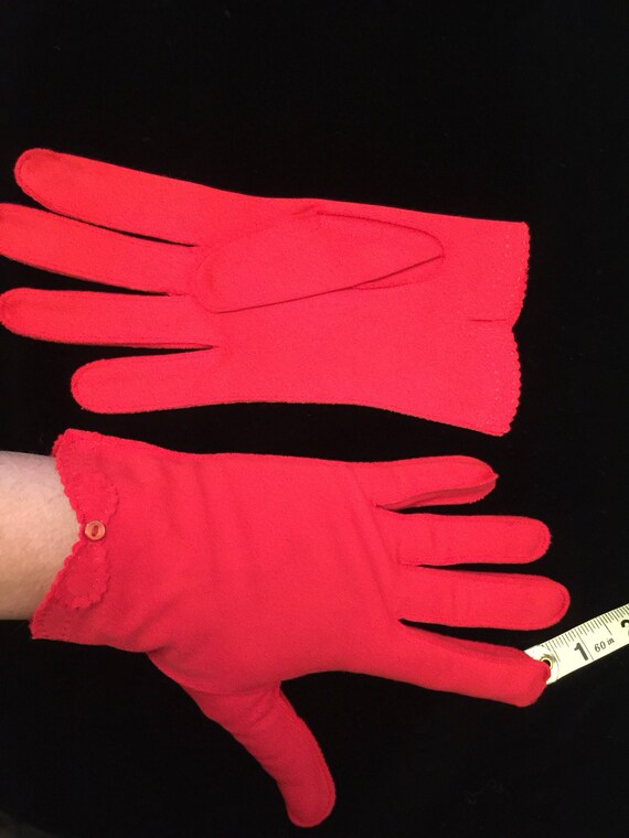 True Red / bright Red dressy gloves with bows ~50'