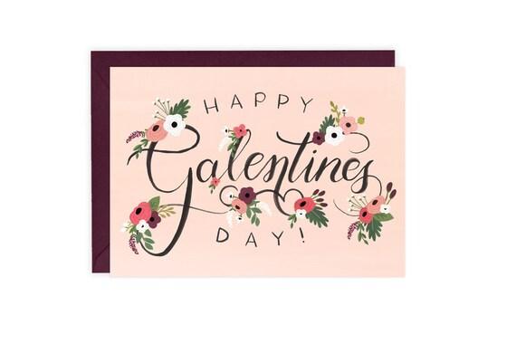 Glücklich Galentines Tag Freund-Valentinstag-Karte | Etsy
