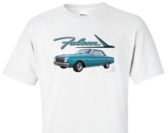 Ford Falcon Custom Hot Rod Antique Classic Muscle Car  Door T Shirt
