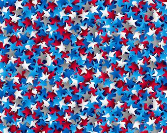 White Stars on Navy Blue 108 Inch Wide Fabric GALPQB49524-NAW Wide Back Fabric QOV Back Patriotic Quilt Back Fabric Bty One Yard Cut