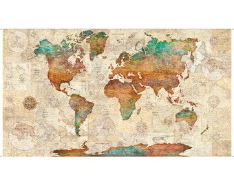 World Map Quilt Pattern.World Map Quilt Etsy