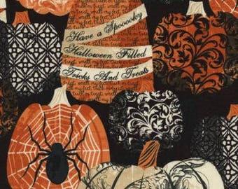 Timeless Treasures - Hocus Pocus - C3382 - Halloween - Pumpkins - Fall - Spiders - Words - One More Yard