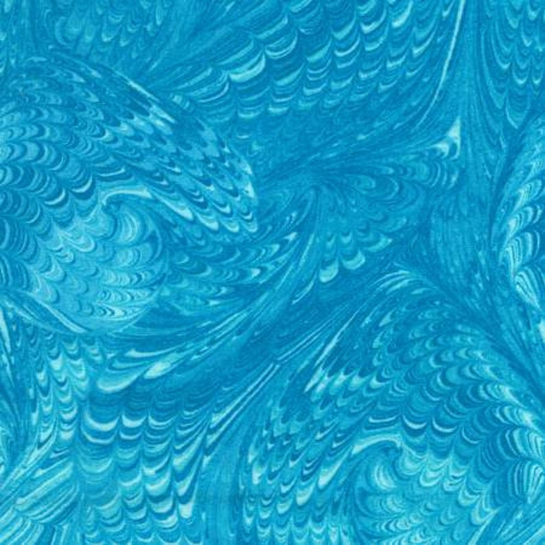 Aqua Quilt Backing Timeless Treasures Wide Width One More Yard Enchantment C5879-Aqua 108 Wide