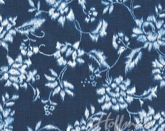 Hoffman - Indigo Summer - P4330-19-Navy - Floral - Navy - White - Flowers - One More Yard