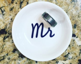 Mr Ring Dish | Husband Ring Holder | Wedding Gift For Him | Fiance Ring Dish | Personalized Engagement Ring Dish | Ring Holder