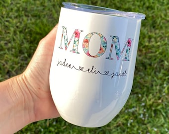 Personalized Cup for Mom | Grandma Tumbler | Custom Cup for Grandmother | Grandmother Gift | Mom Gift with Kids Names