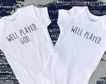 5cf85a94c7ac6 Twins Pregnancy Announcement   Twin Gifts   Twins Outfits   Twins Bodysuits Expecting  Twins   Pregnant With Twins   Funny Announcement