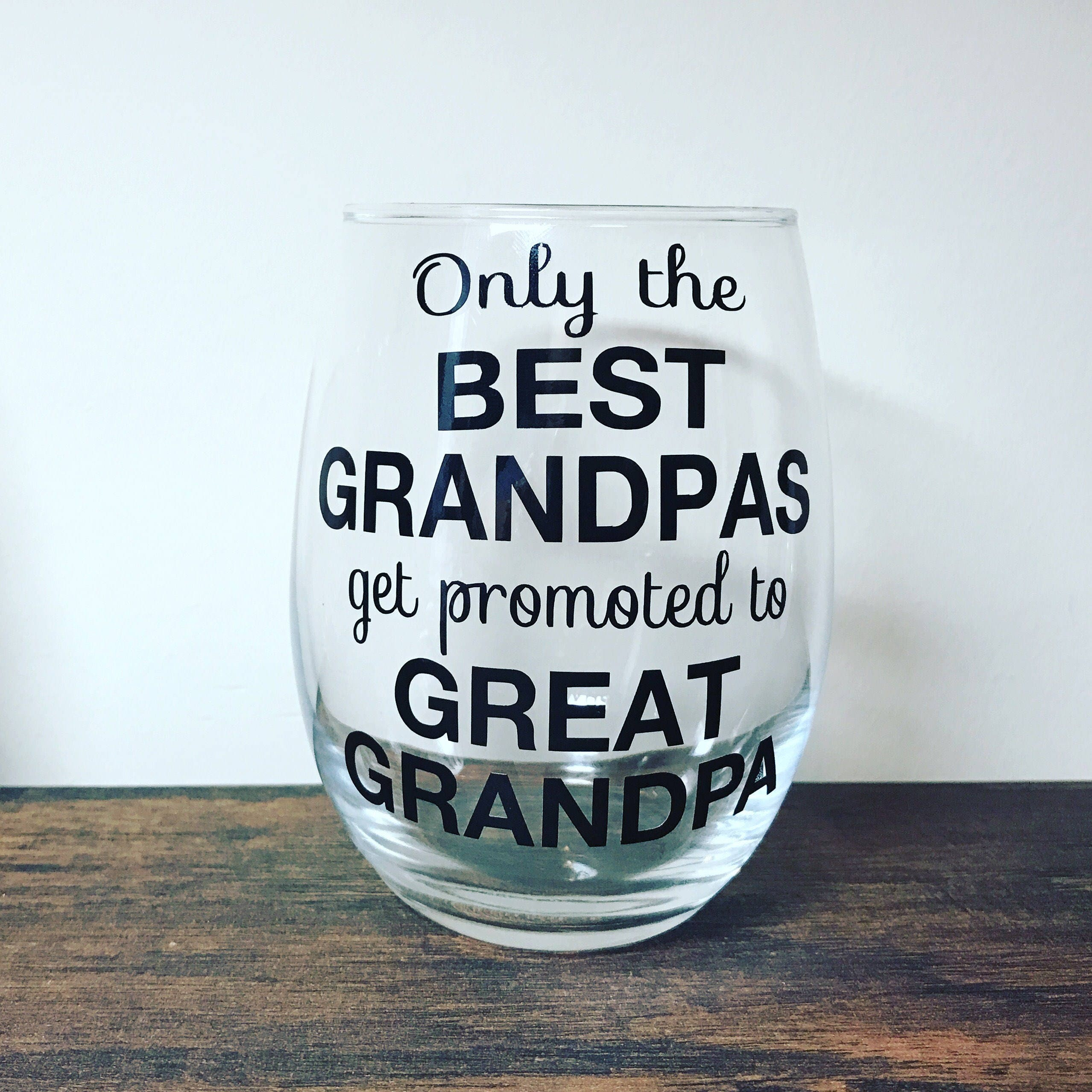 f1a6ae5674a Only the Best Grandpas Get Promoted to Great Grandpa Cup | Etsy