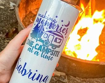 Personalized Camping Gift | Custom Gift for Campers | Camping Cup | Camping Tumbler | Camping Coffee Mug | Travel Gift | Traveller Gift