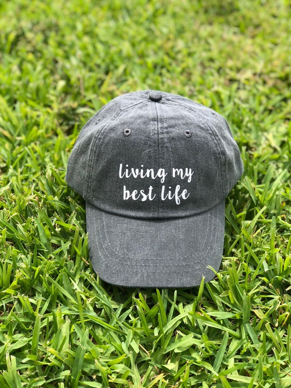 d0debe49dab521 Living My Best Life Baseball Hat Dad Hat for Women Wedding | Etsy