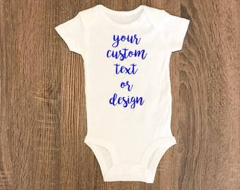 Personalized Baby Gift | CUSTOM Bodysuit or Toddler Shirt  | Baby Girl or Baby Boy Custom Shirt | Baby BodySuit | Baby Outfit