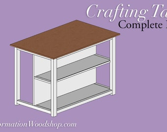 Craft Table Woodworking Plans