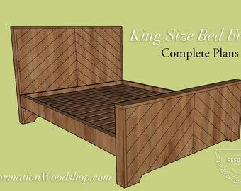 King Size Headboard & Bedframe Woodworking Plans
