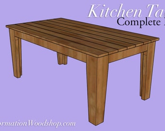 Simple Kitchen Table Plans