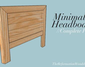 Minimalist  Queensize Headboard // Woodworking Plans