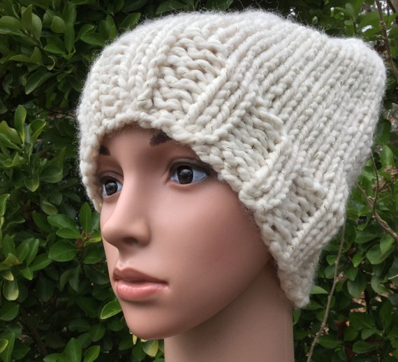 033571276a7 Cream and Gold Slouch Beanie Hat Off WhiteHat Off White