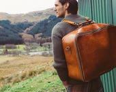 Rucksack Leather Suitcase, Duffle Bag, Convertible Suitcase, Travel Bag, Large Travel Suitcase, Vintage, Retro, Holdall, Men's Fashion, Hip