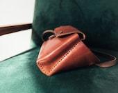 Leather Belt Bag, Fanny Pack, Leather Crossbody Bag, Shoulder Bag, Leather Sling Bag, Vegetable Tanned Leather, Waist Bag, Gift for Her