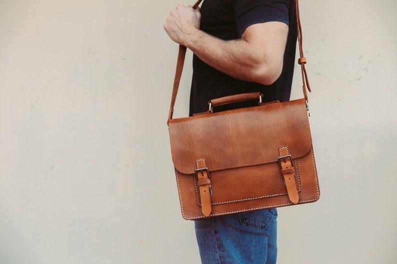 63b9e00c3f Messenger Bag Men 13 Leather Men s Briefcase