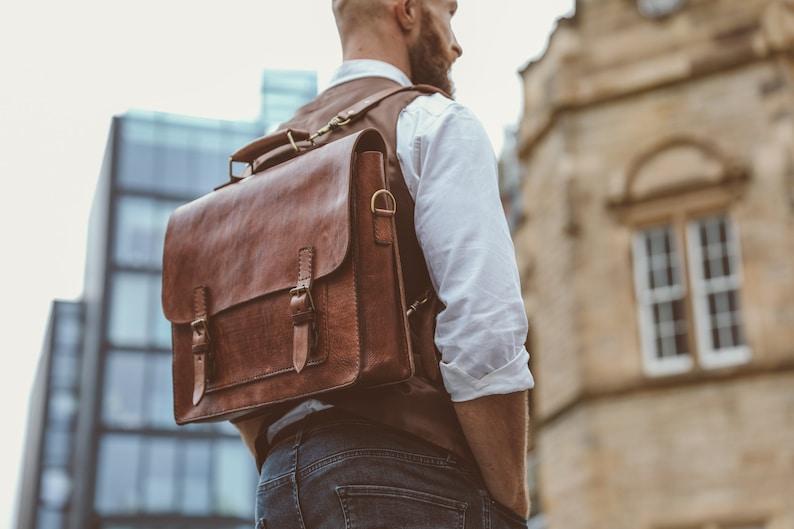 b6041db19d Men s Messenger Bag 15 Leather Briefcase