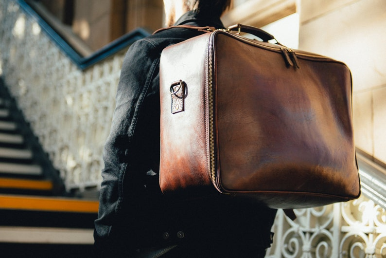5606e716d9 Large Leather Duffle Bag Men s Leather Suitcase Handmade