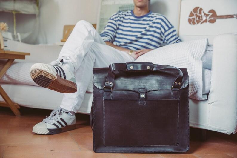 9029f72dc07 Black Leather Duffle Bag Large Tote Bag Weekender Overnight Bag Day tripper  Crossbody Bag Holdall Work Bag Leather Tool Bag Laptop Bag